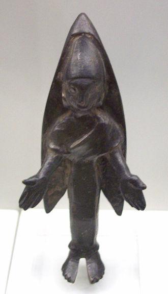 Bastetani - Bronze votive feminine figure of the Bastetani