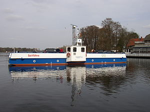 """Schwielowsee (municipality) - """"Tussi II"""" cable ferry"""