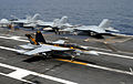 F-18E of VFA-115 landing on USS George Washington (CVN-73) in September 2013.JPG