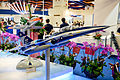 F-CK-1C&D Fighter Model Display at AIDC Booth 20150815a.jpg