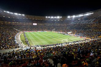 FIFA World Cup - Interior view of the Soccer City in Johannesburg, South Africa, during a match at the 2010 FIFA World Cup