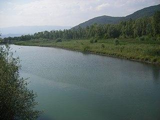 Bléone river in France