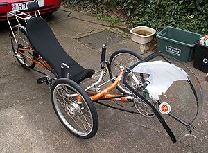 Bikes Recumbent A tadpole recumbent tricycle