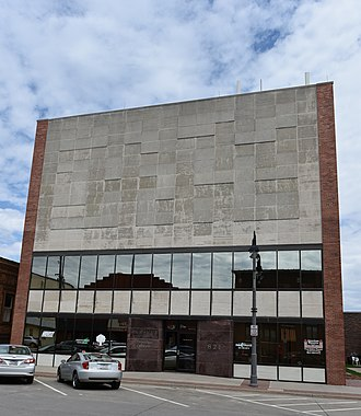National Register of Historic Places listings in Poweshiek County, Iowa - Image: Farmers Mutual Reinsurance Company Building (New Facade)