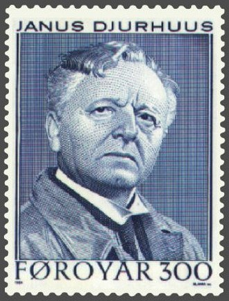Janus Djurhuus - Janus Djurhuus on a stamp of the Faroe Islands issued in 1984