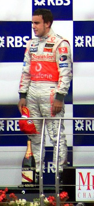 2007 Formula One World Championship - Fernando Alonso, the defending double world champion, also recorded 109 points but was placed 3rd through count-back.