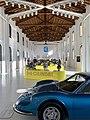 Ferrari engines at the old workshop of Museo Enzo Ferrari, Modena, Italy, 2019, 02.jpg