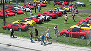 The Ferrari Club of America's parking lot at the 2005 United States Grand Prix