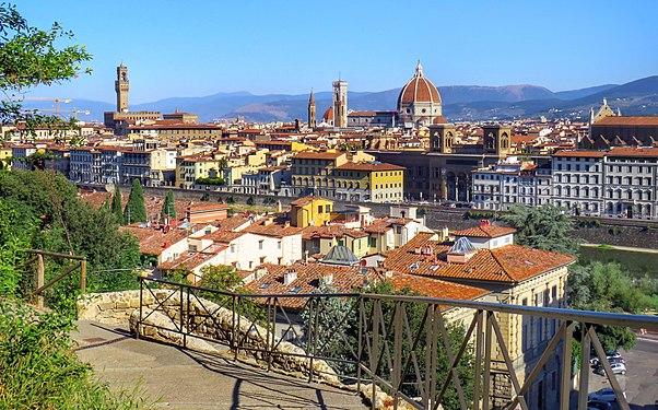 Firenze Panorama del Centro con il Duomo e Palazzo Vecchio.jpg