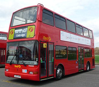 Plaxton President - Nearside of a First London President.