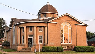 National Register of Historic Places listings in Atoka County, Oklahoma - Image: First Methodist Church Building Atoka 2017