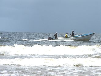 Fishing industry in the Caribbean - Fishing at Mayaro Bay, Trinidad and Tobago
