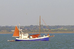 Fishing boat at Yarmouth Old Gaffers Festival 2009.jpg