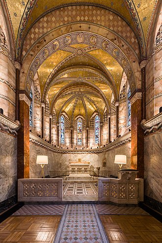Fitzrovia Chapel - Interior of the restored chapel in September 2017