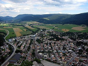 Fleurier - View of Fleurier from Chapeau de Napoléon