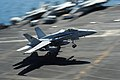 Flickr - Official U.S. Navy Imagery - An F-A-18C Hornet lands at sea..jpg
