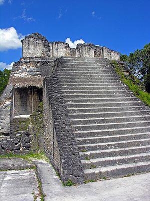 North Acropolis, Tikal - Temple 22