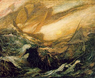 Flying Dutchman - The Flying Dutchman by Albert Pinkham Ryder c. 1887 (Smithsonian American Art Museum)