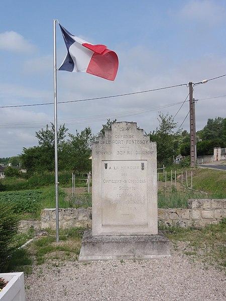 Fontenoy (Aisne) memorial Défense du Port de Fontenoy