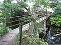 Footbridge at a door works yard in Penistone, South Yorkshire.jpg