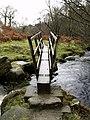Footbridge in the Valley of Desolation - geograph.org.uk - 625053.jpg