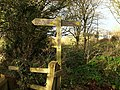 Footpath sign near Marldon Road - geograph.org.uk - 1079946.jpg