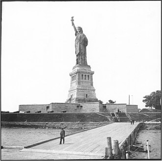 Liberty Island - Fort Wood's star-shaped walls became the base of the Statue of Liberty.