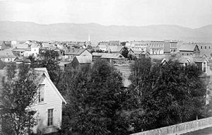 Fort Collins, Colorado - Fort Collins, facing west (1875)