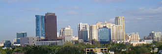 History of Fort Lauderdale, Florida - Fort Lauderdale's downtown skyline in 2006