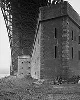 Fort Point under bridge