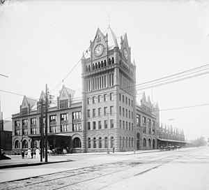Fort Street Union Depot - The Fort Street Union Depot in 1909