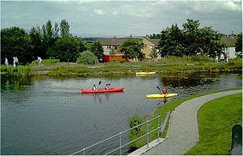 English: Forth & Clyde Canal at Falkirk Canoes...