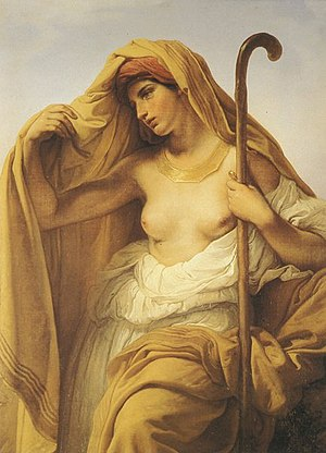 Concubinage - Tamar of Judah by Francesco Hayez, 1847