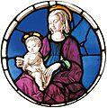 Francesco del cossa, vetrata della madonna col bambino, museo jacquemart andrè.jpg