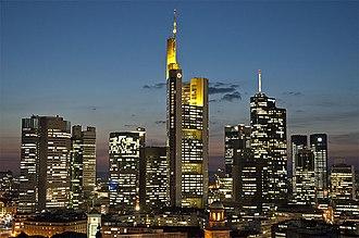 Commerzbank Tower - Image: Frankfurt Skyline 2012