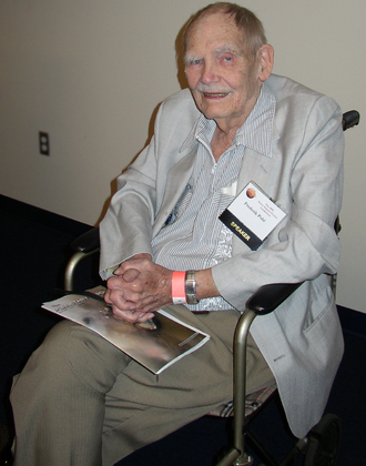 Frederik Pohl - Pohl in 2008 at the J. Lloyd Eaton Science Fiction Conference