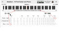 Frequency Range of Guitar on Piano Keyboard.png