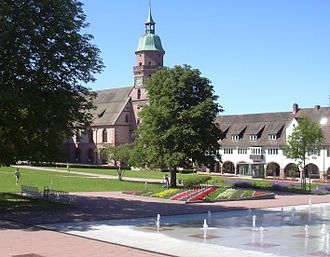 Freudenstadt - Market place and city church