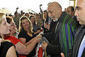 Friendly Hamid Karzai chats with Army wives at Fort Campbell.jpg