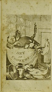 Frontispiece showing a cornucopia of natural produce in a kitchen