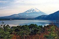 从富士五湖眺望富士山