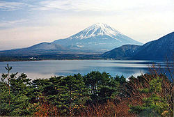 View of Mt. Fuji from the Five Lakes area