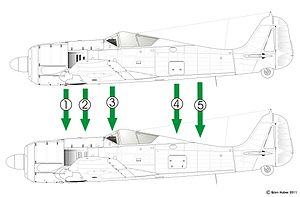 Unterschiede Fw 190 A-4 nach A-5