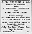 G. R. Renfrew & Co, Furriers of the Queen, advertisement, Quebec November 1888.jpg