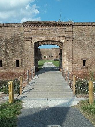Republican Blues - Image: GA Savannah Fort Jackson gate 01