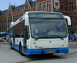 GVB bus 173 bij Centraal Station