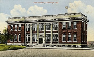 Lethbridge - Galt Hospital 1910, now the Galt Museum