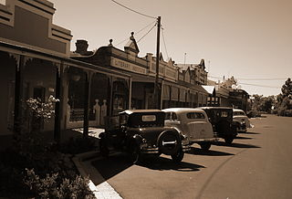 Ganmain Town in New South Wales, Australia