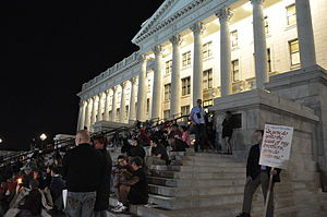 Capital punishment in Utah - A rally at the Utah State Capitol protests the execution of Ronnie Lee Gardner.