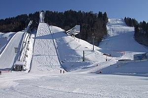 Alpine skiing at the 1936 Winter Olympics – Women's combined - Image: Garmisch Partenkirchen Grosse Olympiaschanze